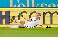 SOLNA, SWEDEN - APRIL 10: Megan Rapinoe #15 of the United States during a game between Sweden and USWNT at Friends Arena on April 10, 2021 in Solna, Sweden.