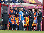 07.04.2019 Motherwell v Rangers: Scott Arfield subbed after his hat-trick