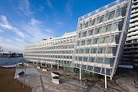 Unilever-Haus Strandkai 1, Hamburg, Deutschland erbaut vom Archtekturbüro Behnisch, Energiesparhaus