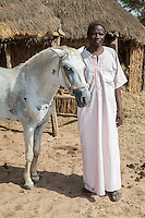 Senegalese Farmer and his Horse.  Bijam, a Wolof Village, near Kaolack, Senegal. DOZENS MORE OF IMAGES RELATED TO MILLET CULTIVATION ARE AVAILABLE.  WHAT DO YOU NEED?