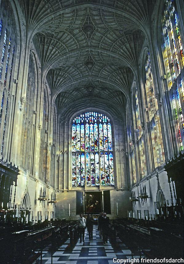 Cambridge: King's College Chapel--looking toward altar. Photo '82.