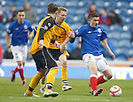 Fraser Aird attacking on the wing