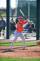 Zachary Morris (6) of St. Joseph High School in Santa Maria, California during the Baseball Factory All-America Pre-Season Tournament, powered by Under Armour, on January 13, 2018 at Sloan Park Complex in Mesa, Arizona.  (Zachary Lucy/Four Seam Images)