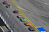 2017 NASCAR Cup - Clash at Daytona<br /> Daytona International Speedway, Daytona, FL USA<br /> Sunday 19 February 2017<br /> Denny Hamlin, FedEx Express Toyota Camry, Daniel Suarez, ARRIS Toyota Camry, Matt Kenseth, Interstate Batteries Toyota Camry and Kyle Busch, M&M's Toyota Camry<br /> World Copyright: Russell LaBounty/LAT Images<br /> <br /> ref: Digital Image 17DAY1rl_3388
