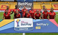 BOGOTA - COLOMBIA, 26-10-2020: Millonarios y Fortaleza CEIF., durante partido por la fecha 3 de la Liga Femenina BetPlay DIMAYOR 2020 jugado en el estadio Nemesio Camacho El Campin en la ciudad de Bogota. / Millonarios Fortaleza CEIF., during a match for the 3rd date of the Women's League BetPlay DIMAYOR 2020 played at the Nemesio Camacho el El Campin stadium in Bogota city. / Photo: VizzorImage / Luis Ramirez / Staff.