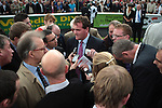 2012.09.09 - Horse Racing - The Curragh Racecourse - Moyglare Stud Stakes.Sky Lantern winning trainer Richard Hannon The Moyglare Stud Stakes talking to media post race at The Curragh Racecourse in Kildare, Ireland