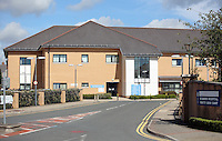 Pictured: St David's Hospital in Cardiff, Wales, UK. Friday 26 August 2016<br />Re: Andrew Keitley was refused dental treatment by staff at St David's Hospital in Cardiff south Wales where he lives because he is overweight.