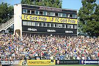 FC Gold Pride fans at Buck Shaw stadium. The Los Angeles Sol defeated FC Gold Pride, 2-0, at Buck Shaw Stadium in Santa Clara, CA on May 24, 2009.