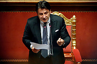The Italian Prime Minister Giuseppe Conte during the information about Covid-19 emergency at the Senate.<br /> Rome (Italy), July 28th 2020<br /> Photo Samantha Zucchi Insidefoto