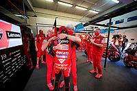 Jack Miller Ducati winner celebrates with Gigi Dall'Igna <br /> Jerez 03/05/2021 Spain MotoGP<br /> Photo Mediahouse.ducati.com / Insidefoto <br /> EDITORIAL USE ONLY