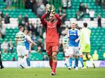 Celtic v St Johnstone …26.08.17… Celtic Park… SPFL<br />Alan Mannus applauds the fans at full time<br />Picture by Graeme Hart.<br />Copyright Perthshire Picture Agency<br />Tel: 01738 623350  Mobile: 07990 594431