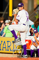 Starting pitcher Ryan Buch #26 of the Winston-Salem Dash warms up in the bullpen prior to the game against the Kinston Indians at BB&T Ballpark on June 4, 2011 in Winston-Salem, North Carolina.   Photo by Brian Westerholt / Four Seam Images