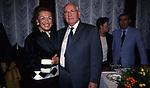 IRENE GALITZINE CON MIKHAIL GORBACIOV  E SULLO SFONDO GIULIETTO CHIESA<br /> COCKTAIL PARTY IN ONORE DI GORBACIOV - HOTEL BAGLIONI ROMA 11-2000