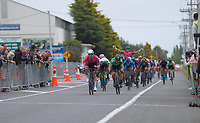 Dylan Kennett (New Zealand/St George Continental Cycling) wins stage five of the NZ Cycle Classic UCI Oceania Tour (Masterton Circuit) in Wairarapa, New Zealand on Sunday, 19 January 2020. Photo: Dave Lintott / lintottphoto.co.nz