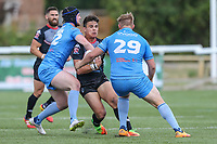 Michael Channing of London Broncos looks for a way through during the Kingstone Press Championship match between London Broncos and Sheffield Eagles at Castle Bar , West Ealing , England  on 9 July 2017. Photo by David Horn.
