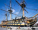 Great Britain, England, Hampshire, Portsmouth: HMS Victory, Admiral Lord Nelson's flagship during the Battle of Trafalgar in 1805 | Grossbritannien, England, Hampshire, Portsmouth: HMS Victory, Admiral Lord Nelsons Flaggschiff waehrend der Schlacht von Trafalgar 1805