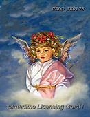 CHILDREN, KINDER, NIÑOS, paintings+++++,USLGSK0178,#K#, EVERYDAY ,Sandra Kock, victorian ,angels