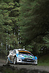 14th September 2012 - Devils Bridge - Mid Wales : WRC Wales Rally GB SS6 Myherin stage : Jannie Habig (ZAF) and co driver Robbie Durant (GBR) in their Ford Fiesta RS WRC.