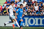 Mauro Wilney Arambarri Rosa of Getafe CF(R) fights for the ball with Marcos Llorente of Real Madrid (L) during the La Liga 2017-18 match between Getafe CF and Real Madrid at Coliseum Alfonso Perez on 14 October 2017 in Getafe, Spain. Photo by Diego Gonzalez / Power Sport Images