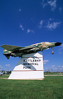Mobile Alabama, Battleship Memorial Park, military fighter plane display.