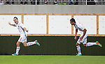 Spartak Trnava v St Johnstone...07.08.14  Europa League Qualifier 3rd Round<br /> Martin Mikovic celebrates his goal<br /> Picture by Graeme Hart.<br /> Copyright Perthshire Picture Agency<br /> Tel: 01738 623350  Mobile: 07990 594431