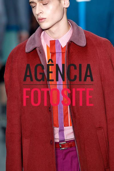 Londres, Inglaterra – 06/01/2014 - Desfile de Richard Nicoll durante a Semana de moda masculina de Londres - Inverno 2014. <br /> Foto: FOTOSITE