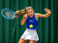 Wateringen, The Netherlands, December 8,  2019, De Rhijenhof , NOJK juniors 14 and18 years, Finals girls 14 years Isis van den Broek (NED)<br /> Photo: www.tennisimages.com/Henk Koster