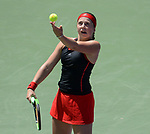 March 28 2018: Jelena Ostapenko (LAT) defeats Elina Svitolina (UKR) by 7-6 (3), 7-6 (5), at the Miami Open being played at Crandon Park Tennis Center in Miami, Key Biscayne, Florida. ©Karla Kinne/Tennisclix/CSM