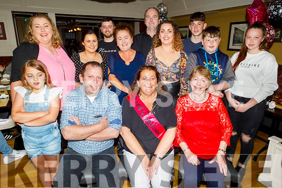 Geraldine Sheehy from Farmers Bridge celebrating her 50th birthday on Friday in the Brogue Inn.<br /> Seated l to r: Geraldine and Eamon Sheehy and Eileen Harris.<br /> Middle row l to r: Laura and Linda Harris, Sinead Brosnan, Maura Harris, Emma Sheehy, Cian and Shauna Harris. <br /> Back Standing l to r: Gary Sheehy, Robert Harris and Adam Sheehy.
