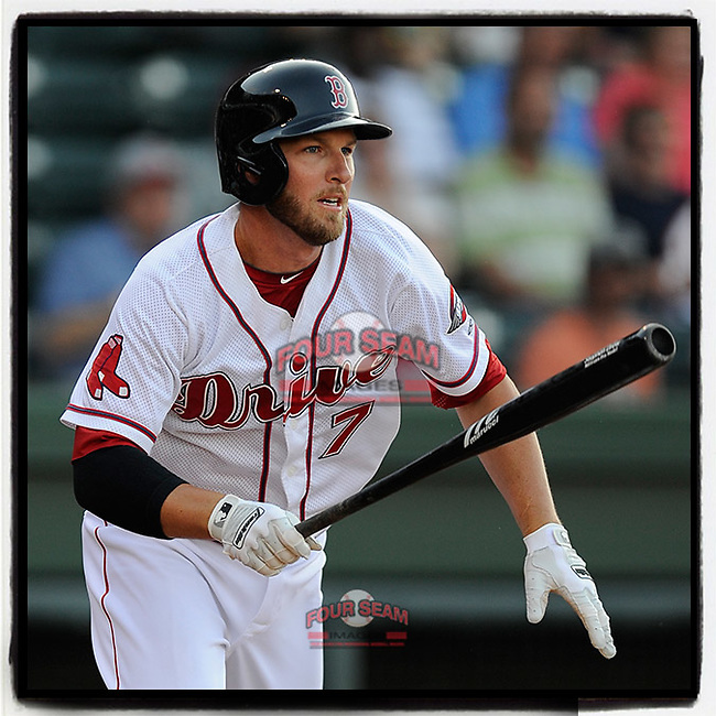 #OTD On This Day, May 23, 2014, Boston Red Sox shortstop Stephen Drew (7) played for the Class A Greenville Drive on a rehab assignment against the Augusta GreenJackets at Fluor Field at the West End in Greenville, South Carolina. Drew got one hit in two appearances. Previously he was with Arizona and Oakland. He later played for the Red Sox, the Yankees and retired with the Nationals. (Tom Priddy/Four Seam Images) #MiLB #OnThisDay #MissingBaseball #nobaseball #stayathome #minorleagues #minorleaguebaseball #Baseball #SallyLeague #AloneTogether