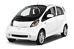 2017 Mitsubishi iMiEV 5 Door Micro Car Angular Front stock photos of front three quarter view