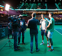 Rotterdam, The Netherlands, February 14, 2016,  ABNAMROWTT, Nicolas Mahut (FRA) / Vasek Pospisil (CAN)<br /> Photo: Tennisimages/Henk Koster