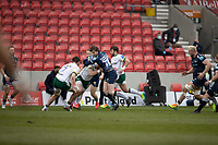21st March 2021; AJ Bell Stadium, Salford, Lancashire, England; English Premiership Rugby, Sale Sharks versus London Irish; Simon Hammersley of Sale Sharks is tackled