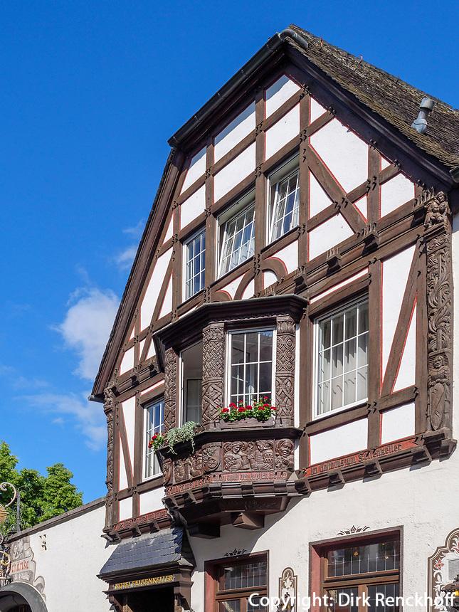 Fachwekhaus in Rüdesheim, Hessen, Deutschland, Europa<br /> halftimbered house in Rüdesheim, Hesse, Germany, Europe
