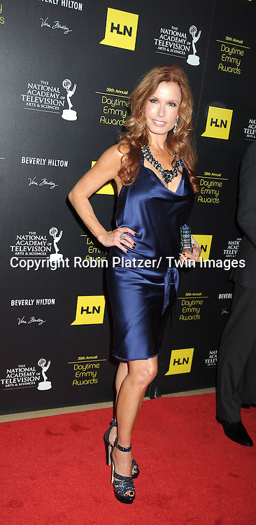 Tracey Bregman attends the 39th Annual Daytime Emmy Awards on June 23, 2012 at the Beverly Hilton in Beverly Hills, California. The awards were broadcast on HLN.