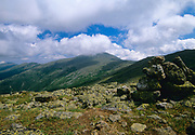 Mount Washington from along the Appalachian Trail (Crawford Path) in the Presidential Range of the White Mountain National Forest, New Hampshire.