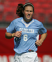 OCT 2, 2005: College Park, MD, USA:  UNC Tarheel forward #6 Katie Brooks looks for the ball while playing the  Maryland Terrapins at Ludwig Field.  UNC won, 4-0. Mandatory Credit: Photo By Brad Smith (c) Copyright 2005 Brad Smith