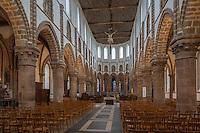 Europe/France/Normandie/Basse-Normandie/50/Manche/Mortain: Nef de la  Collégiale Saint-Évroult de Mortain // France, Manche, Mortain, The parish church of St Evroult