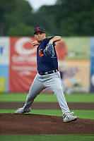Connecticut Tigers pitcher Carson Lance (58) during a NY-Penn League game against the Auburn Doubledays on July 12, 2019 at Falcon Park in Auburn, New York.  Auburn defeated Connecticut 7-5.  (Mike Janes/Four Seam Images)