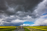 Picture by Alex Whitehead/SWpix.com - 30/04/2016 - Cycling - Tour de Yorkshire, Stage 2: Otley to Doncaster - Yorkshire, England - The break in action.
