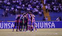 SAN PEDRO SULA, HONDURAS - SEPTEMBER 8: USMNT huddle during a game between Honduras and USMNT at Estadio Olímpico Metropolitano on September 8, 2021 in San Pedro Sula, Honduras.