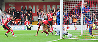 Lincoln City's Tyler Walker celebrates scoring his side's second goal<br /> <br /> Photographer Chris Vaughan/CameraSport<br /> <br /> The EFL Sky Bet League One - Lincoln City v Sunderland - Saturday 5th October 2019 - Sincil Bank - Lincoln<br /> <br /> World Copyright © 2019 CameraSport. All rights reserved. 43 Linden Ave. Countesthorpe. Leicester. England. LE8 5PG - Tel: +44 (0) 116 277 4147 - admin@camerasport.com - www.camerasport.com
