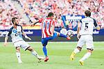 Atletico de Madrid's player Ángel Martín Correa and Deportivo de la Coruña's player Emre and Mosquera during a match of La Liga Santander at Vicente Calderon Stadium in Madrid. September 25, Spain. 2016. (ALTERPHOTOS/BorjaB.Hojas)