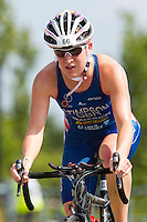31 JUL 2011 - LONDON, GBR - Jodie Stimpson - Elite Women's race during the Virgin Active London Triathlon .(PHOTO (C) NIGEL FARROW)