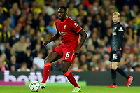 21st September 2021; Carrow Road, Norwich, England; EFL Cup Footballl Norwich City versus Liverpool; Ibrahima Konate of Liverpool