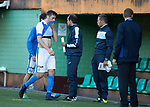 FK Trakai v St Johnstone…06.07.17… Europa League 1st Qualifying Round 2nd Leg, Vilnius, Lithuania.<br />Joe Shaughnessy leaves the pitch at full time<br />Picture by Graeme Hart.<br />Copyright Perthshire Picture Agency<br />Tel: 01738 623350  Mobile: 07990 594431