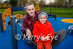 David Holden and Matthew Contreras Holden from Tralee enjoying the playground in the Tralee town park on Sunday.