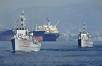 "- Italian Navy, minesweeper class ""Castagno"" in the gulf of La Spezia....- Marina militare italiana, dragamine classe ""Castagno"" nel golfo di La Spezia"