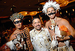Chairs Shannon Hall, at left, co-chair Bruce Padilla,center, and chair Marcus Sloan at the Citizens for Animal Protection owner/pet fashion show at the Hilton Americas Houston Saturday June 06,2009.(Dave Rossman/For the Chronicle)