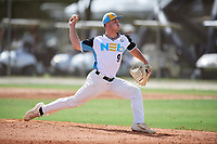 Nick Conte (9) during the WWBA World Championship at the Roger Dean Complex on October 10, 2019 in Jupiter, Florida.  Nick Conte attends North Providence High School in North Providence, RI and is committed to Duke.  (Mike Janes/Four Seam Images)